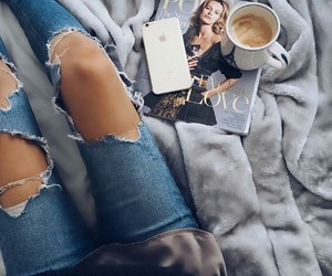 jeans, magazine, and style image
