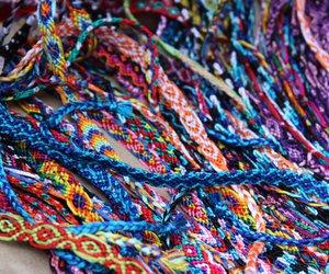 beautiful, blue, and bracelets image
