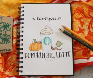 caligraphy, drawing, and fall image