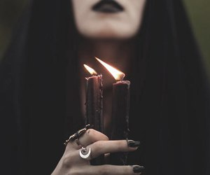 candles, witch, and witchcraft image