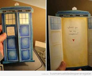 tardis, doctor who, and card image