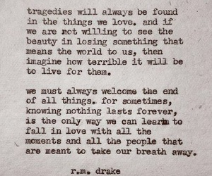 quotes, tragedy, and rmdrake image