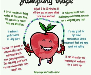 workout, jumping rope, and exercise image