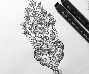 mandala, tattoo, and black image