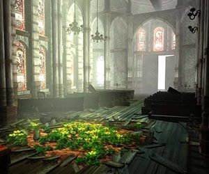 church, flowers, and ffvii image