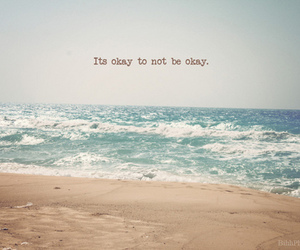 okay, beach, and quote image