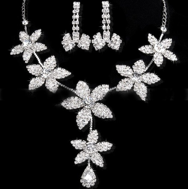 Buy accessories wedding jewelry set earrings necklace Cheap
