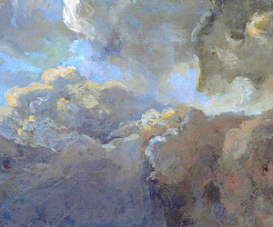 art, clouds, and drawing image