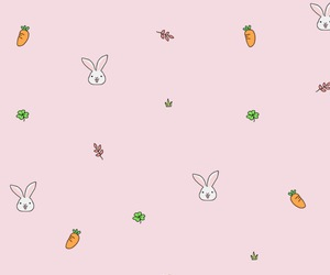 background, bunny, and carrot image