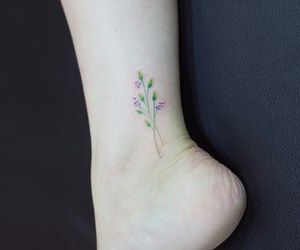 flower tattoo, ink, and inked image