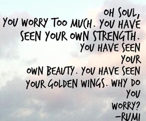 quote, Rumi, and soul image