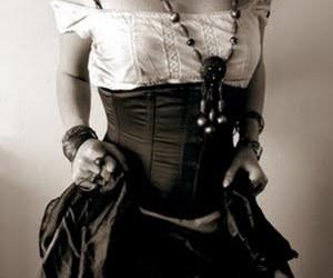 corset, fashion, and gypsy image