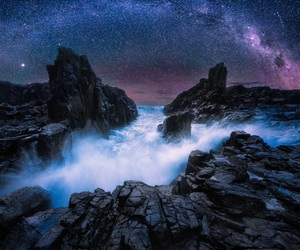 photography, rocks, and stars image