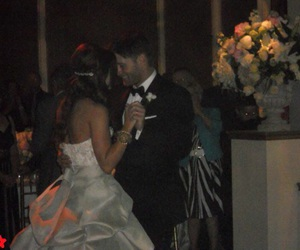 Jensen Ackles, bride, and couple image