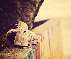 converse, shoes, and vintage image