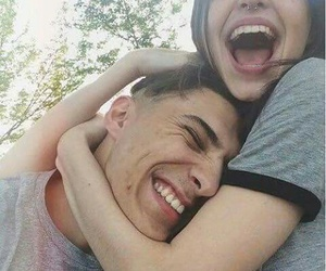 boy, couple+goals, and funny image