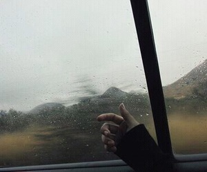 sad, grunge, and rain image