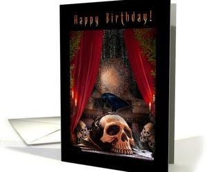 birthday, dark day, and card image