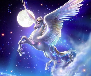 pegasus, unicorn, and fantasy image