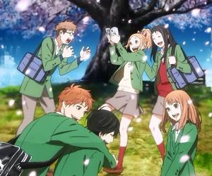 anime, friendship, and orange image