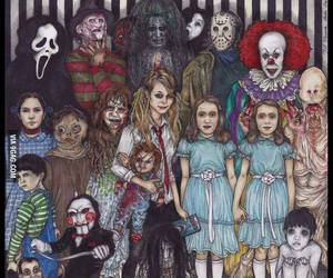 horror, scary, and saw image