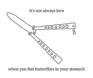 love, butterfly, and funny image