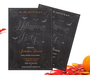 etsy, halloween decoration, and halloween invitation image