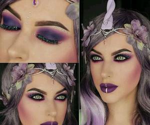 Halloween, makeup, and unicorn makeup image