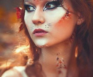 makeup, fox, and Halloween image