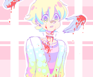anime, boy, and gore image