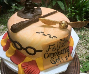 harry potter, cake, and pastel image