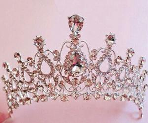 crown, pink, and princess image