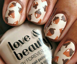 acorn, fall, and autumn nails image