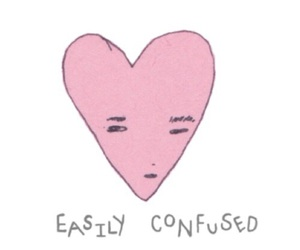 heart, art, and confused image