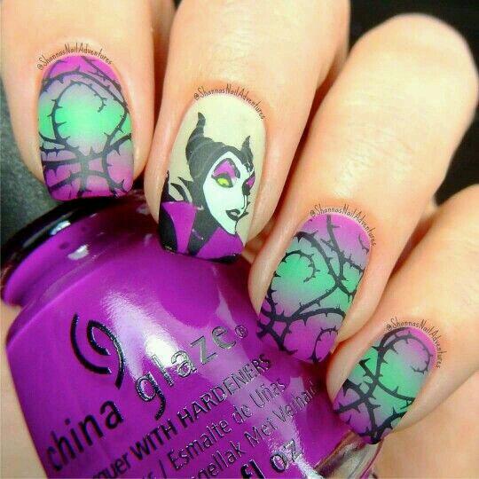 Maleficent Nails Shared By Natasha Lauricella