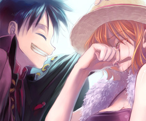 one piece, luffy, and nami image