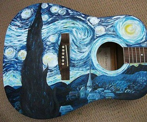 guitar, art, and music image