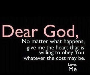 dear, god, and heart image