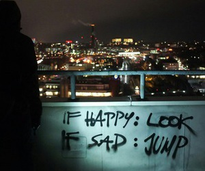 sad, happy, and jump image