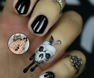 skull, Halloween, and nail art image