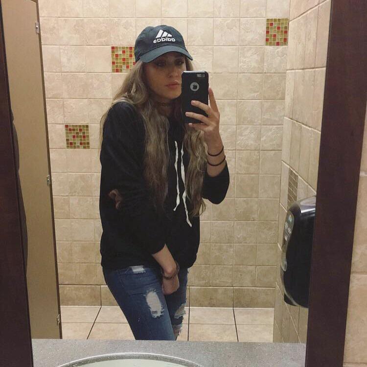 Blonde girl selfie