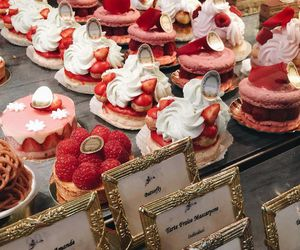 yum, cakes, and food image