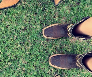 boots, Cowgirl, and field image