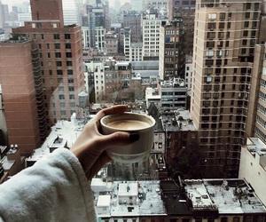city, coffee, and love image