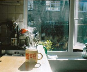 morning, vintage, and coffee image