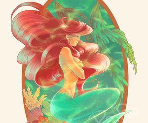 ariel, disney, and illustration image