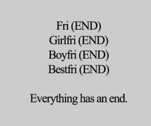 end, friends, and pizza image