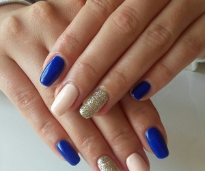 beige, manicure, and blue image
