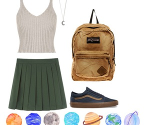 outfit, Polyvore, and planets image
