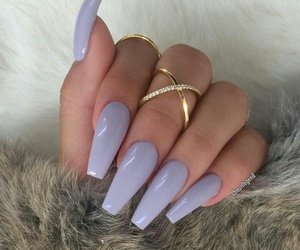 nails, style, and purple image